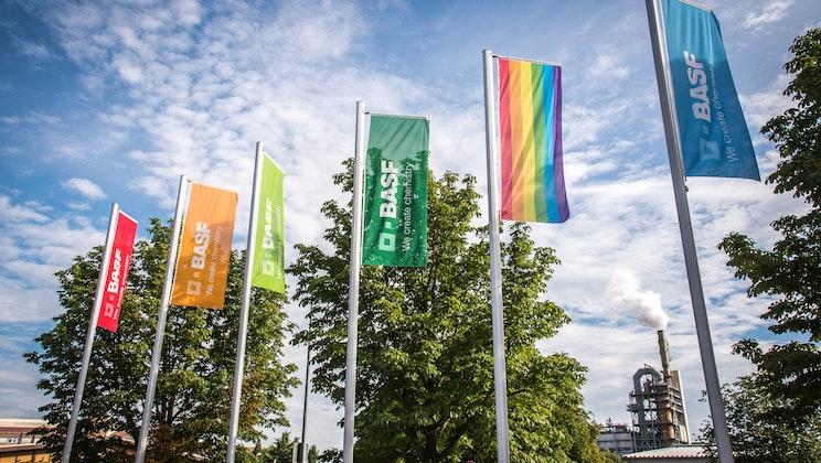 BASF - Flagge auf dem Werksgelände