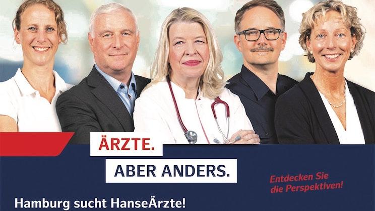 """Freie und Hansestadt Hamburg - Gruppenbild """"Ärzte aber anders."""""""